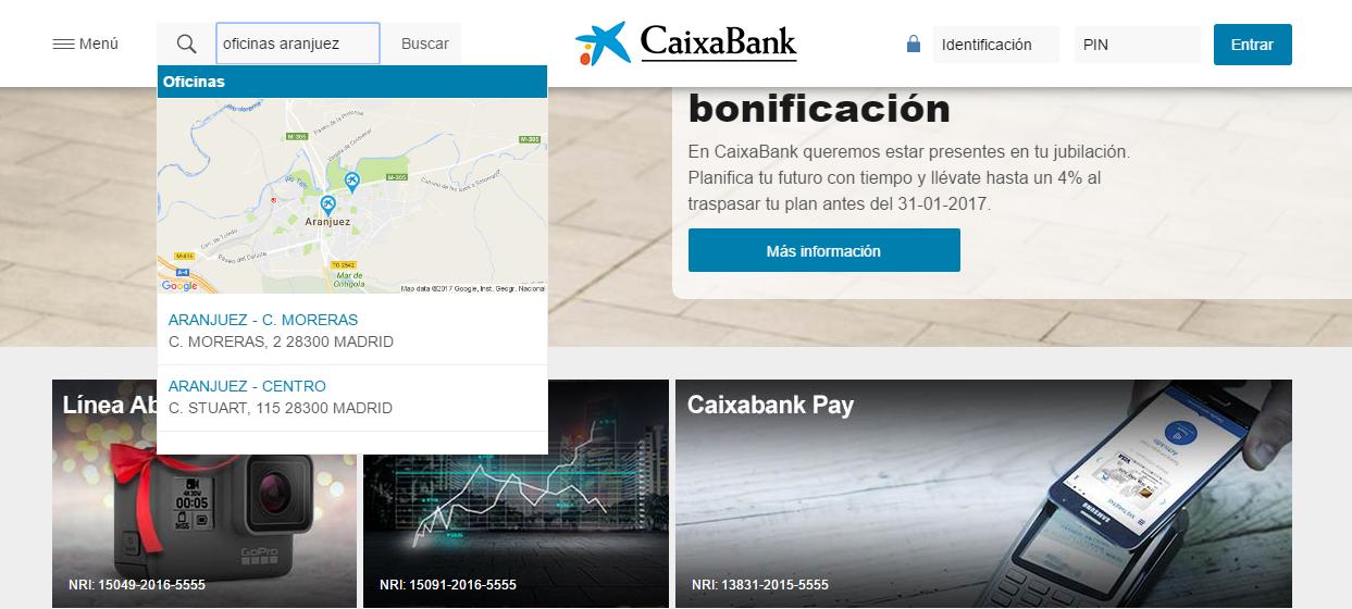 Caso de estudio buscador p blico de caixabank dinasur for Localizador oficinas